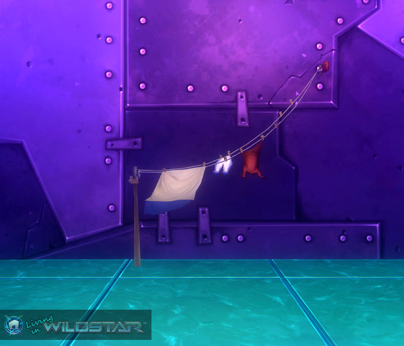 Wildstar Housing - Laundry Lines (Anchored)