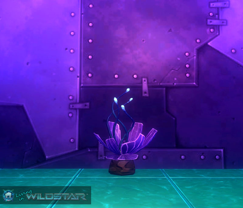 Wildstar Housing - Alien Purplant (Small)