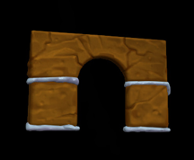 Wildstar Housing - Gingerbread Wall (Doorway)