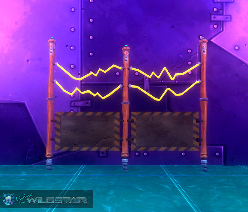 Wildstar Housing - Cozmotronic Fence (Small)