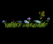 Wildstar Housing - Garden Flower Strip (Style 2)