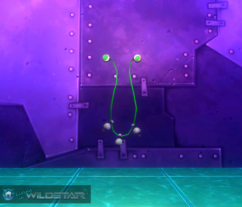 Wildstar Housing - String Lights (Drooping, Skull)