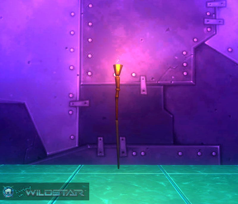 Wildstar Housing - Torch Staff