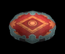 Wildstar Housing - Round Rug (Red and Blue)
