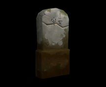 Wildstar Housing - Headstone (Cracked)