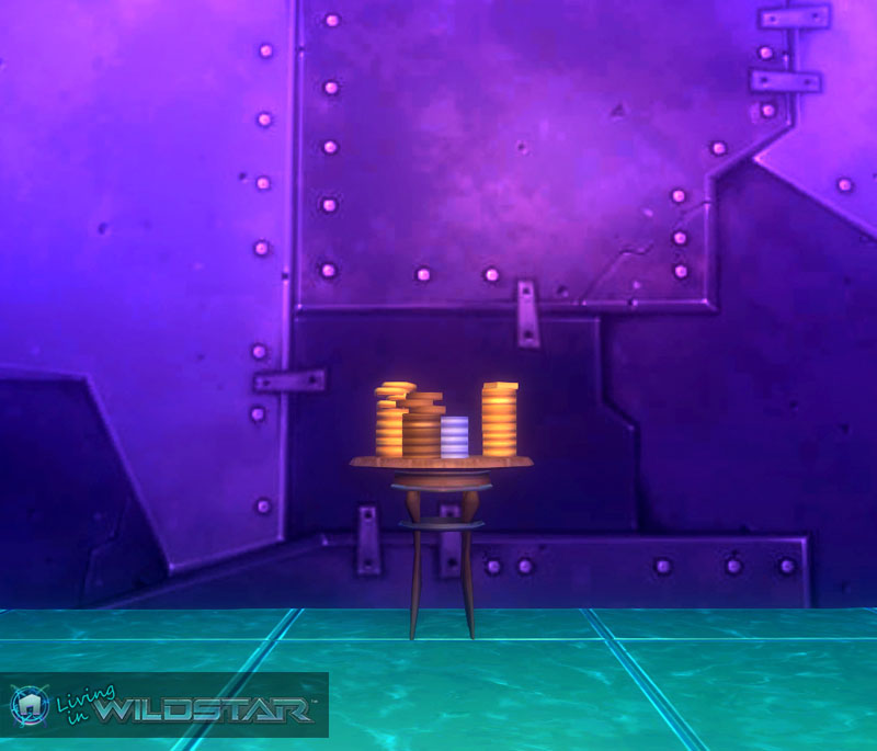 Wildstar Housing - Stack of Plastic Coins