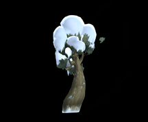 Wildstar Housing - Snowy Tree (Curved)